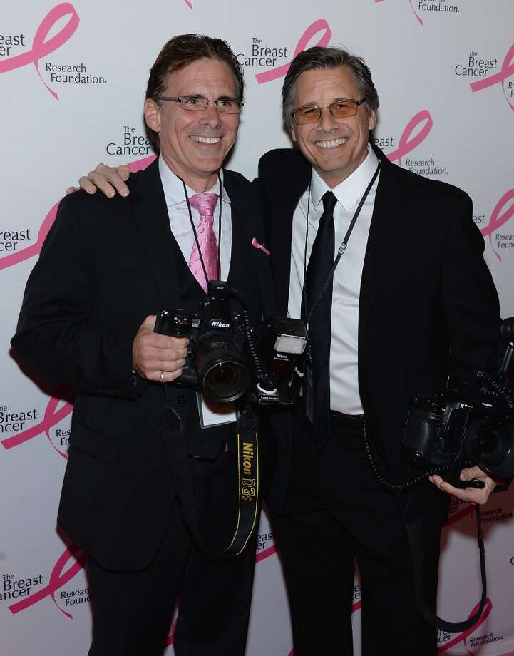Photographers Rob Rich and Kevin Mazuer attend the 2013 Hot Pink Party at The Waldorf=Astoria on April 17, 2013 in New York City.  (Photo by Dimitrios Kambouris/Getty Images)