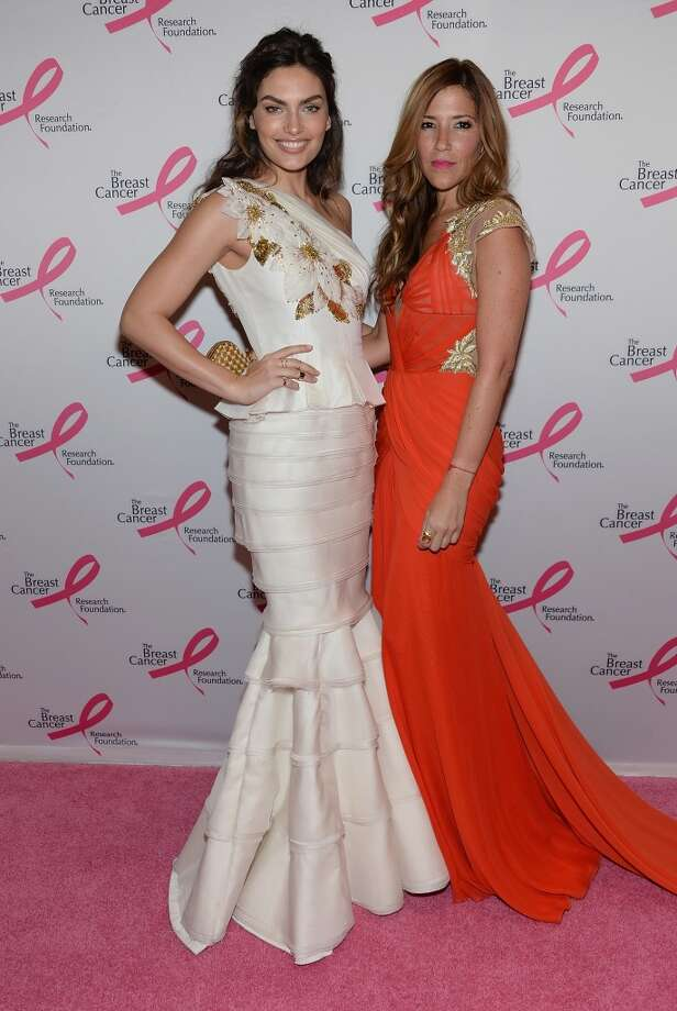 Alyssa Miller and designer Gabriela Cadena attend the 2013 Hot Pink Party at The Waldorf=Astoria on April 17, 2013 in New York City.  (Photo by Dimitrios Kambouris/Getty Images)