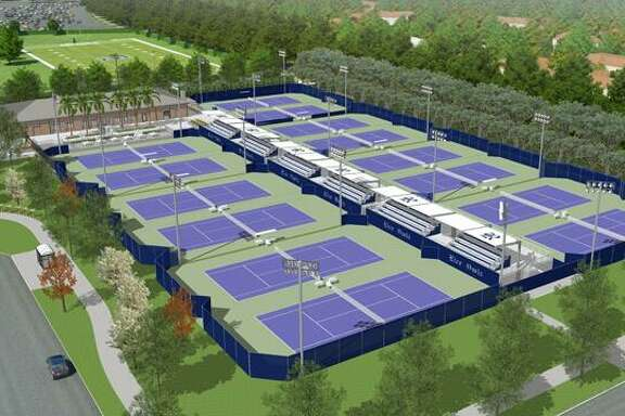 Artist rendering of the George R.Brown Tennis Complex to be built at Rice.