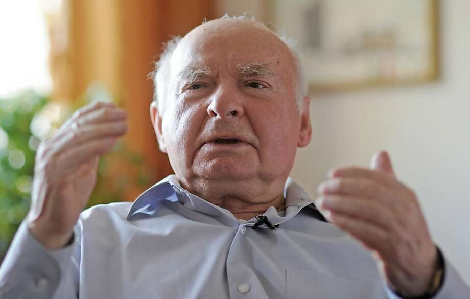 Warsaw Ghetto survivor Jakub Gutenbaum, 83, speaks to The Associated Press  in Warsaw, Poland, Thursday, April 18, 2013. Many decades since the ghetto uprising, Jakub Gutenbaum still squirms at the thought of scalding-hot walls in the basement he was hiding, as houses overhead were on fire. Talking to The Associated Press on Thursday, the 83-year-old Gutenbaum recalls how German troops came into his hiding place and forced everyone out at gunpoint.  Gutenbaum, his mother and little brother, lived through the horror of the uprising, an against-all-odds-revolt by hundreds of lightly armed Jewish fighters against a much larger Nazi force that broke out 70 years ago on Friday.  (AP Photo/Alik Keplicz) Photo: Alik Keplicz, Associated Press