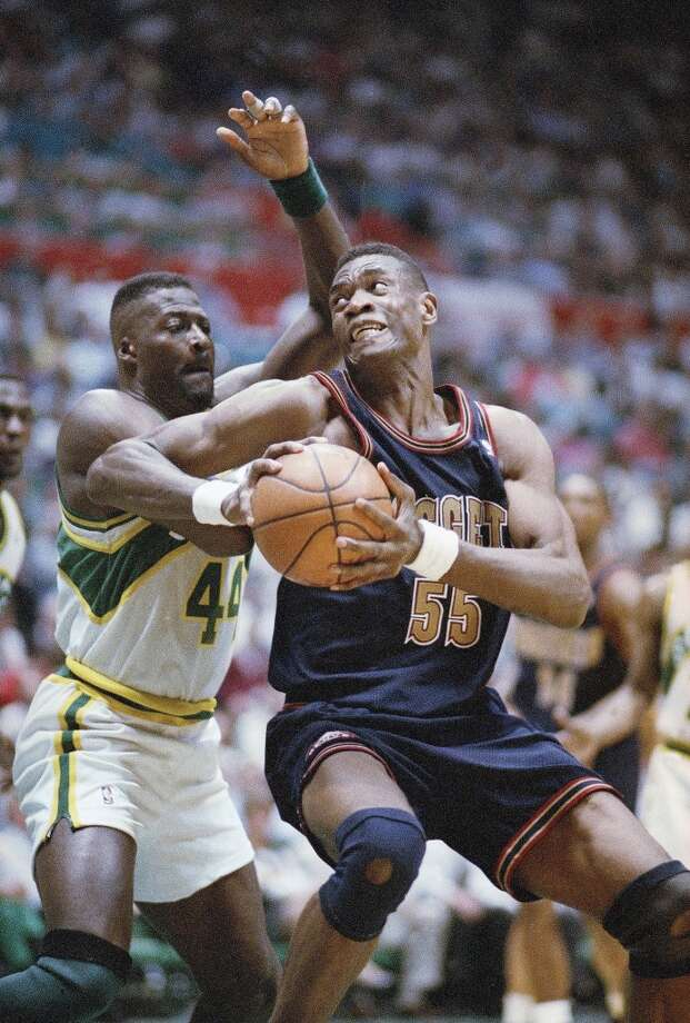 1994: No. 8 Denver over No. 1 SeattleOne of the footnotes in the Rockets first NBA title. The Nuggets win over Seattle in Game 5 (first round series were best-of-five then) knocked out one of the Rockets' nemesis from the playoffs. The Nuggets, led by Dikembe Mutombo, took Utah to seven games in round two before falling. The Rockets then dispatched the Jazz to reach the NBA Finals.