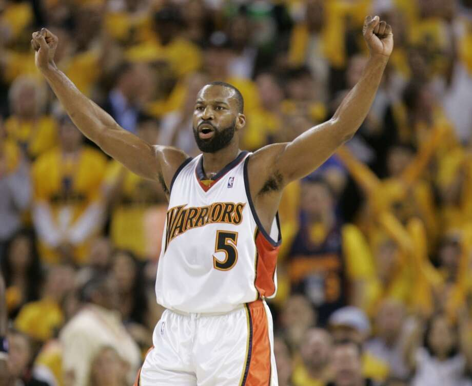2007: No. 8 Golden State over No. 1 DallasThe Warriors became the first No. 8 seed to knock off a No. 1 in a seven-game series. The Mavericks had won a franchise record 67 games and were the defending Western Conference champions but fell in Game 6, 111-86. Baron Davis, hobbled by a hamstring, scored 20 points, and Stephen Jackson added 33. If the Rockets had been able to beat the Jazz in their Game 7, they would have faced the Warriors in the second round.