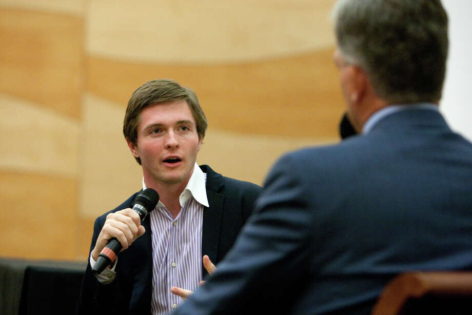 Raffaele Sollecito speaks at the University of Washington as he appears for a book signing and interview with KING/5's Dennis Bounds. Photo: JOSHUA TRUJILLO / SEATTLEPI.COM