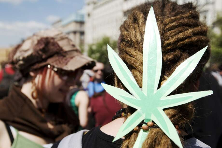 Several hundreds of Czech young people demonstrate for the legalization of marijuana during the 11th Global Marijuana March on May 10, 2008 in Prague, Czech Republic. (Photo by Jarmila Kovarikova/isifa/Getty Images) Photo: Isifa, Getty Images