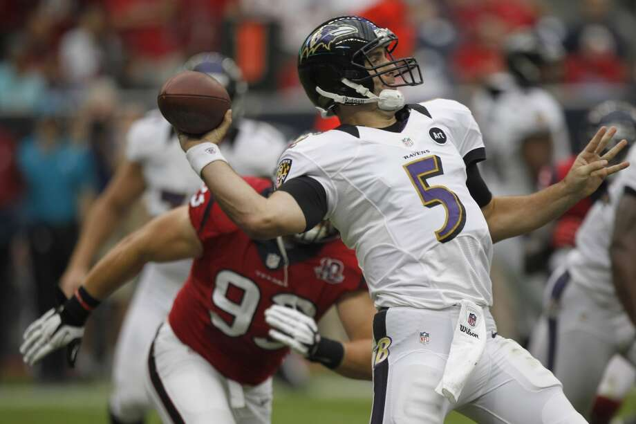 Sept. 22 – At Baltimore Time: Noon TV: CBS   McClain comment: Ravens ruin Ed Reed's homecoming and get revenge for last season's debacle.   Prediction: Ravens 23-20  Record: 2-1 Photo: Brett Coomer , Chronicle