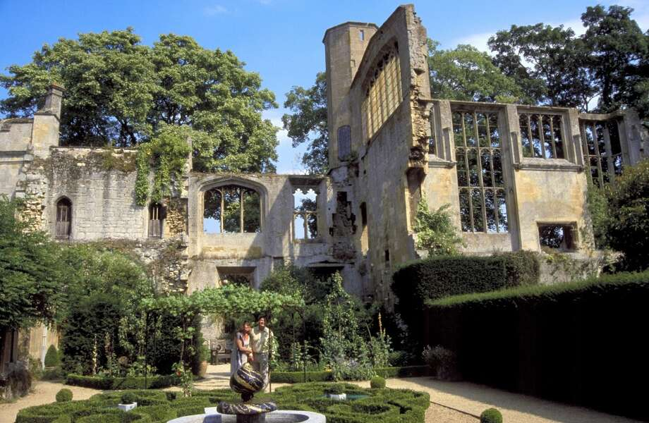 Sudeley Castle includes medieval ruins (above) as well as a 15th century wing and the church where Katherine Parr -- one of the six wives of Henry VIII -- is buried.
