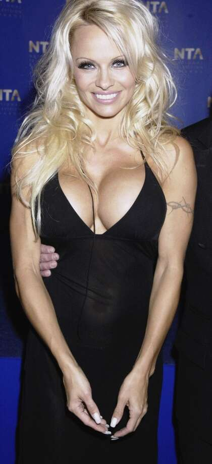 The look was a far cry from how Pamela Anderson has traditionally looked. Here's the actress in 2002.