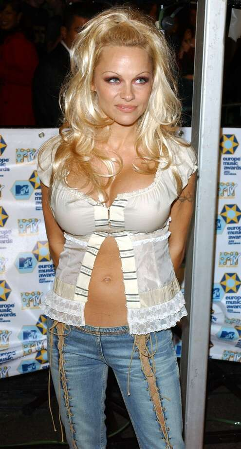 No need for buttons. (Pamela Anderson, 2002 MTV Europe Music Awards).
