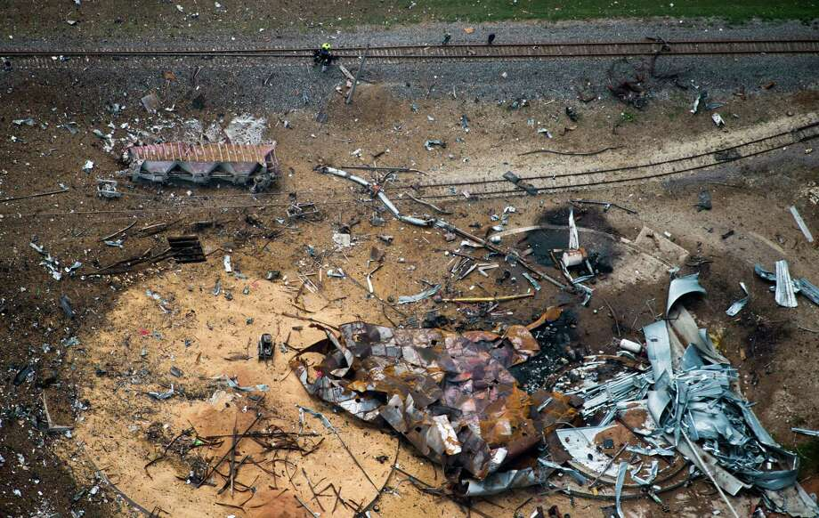 Little is left of the West Fertilizer plant as seen in an aerial view on Thursday after a massive explosion  occurred at the facility. Photo: Smiley N. Pool, Staff / © 2013  Houston Chronicle