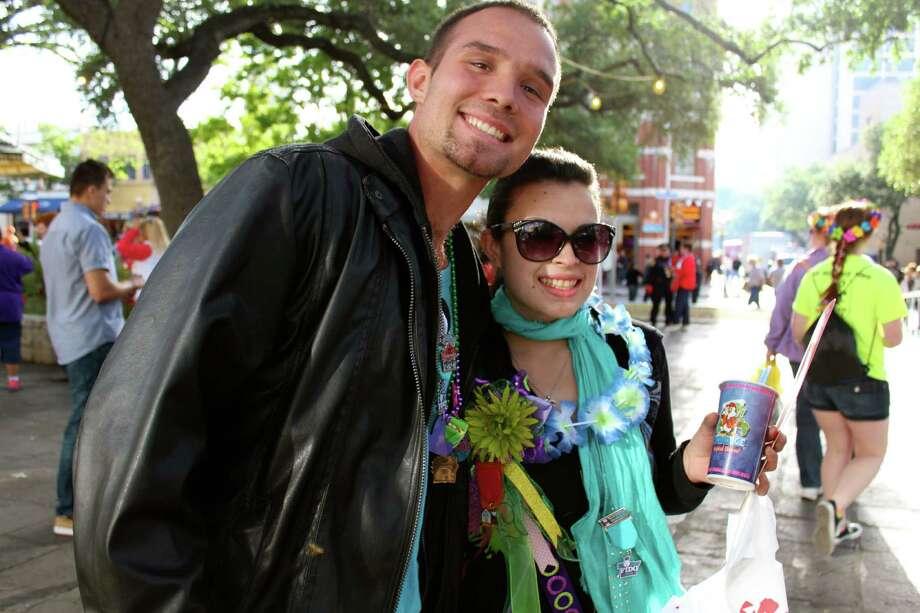 San Antonians celebrated Fiesta Fiesta at Alamo Plaza to kick off the 2013 season. Photo: Yvonne Zamora/mySA.com