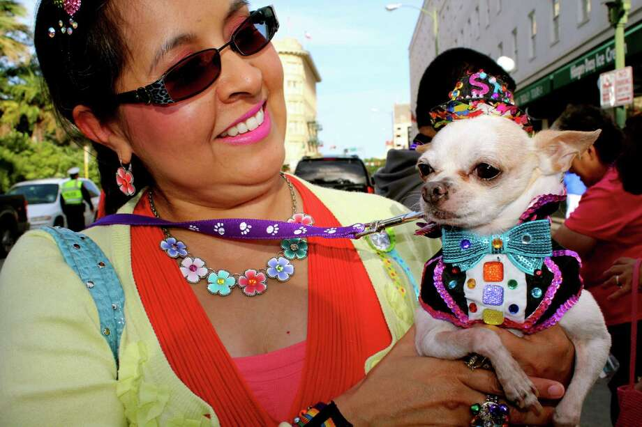 San Antonians celebrated Fiesta Fiesta at Alamo Plaza to kick off the 2013 season. Photo: Yvonne Zamora/mySA.com