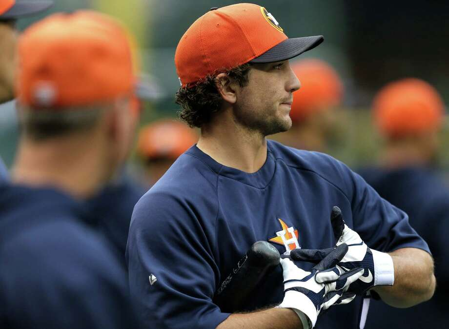 As a result of a woeful start at the plate, Brett Wallace, above, was demoted to Class AAA Oklahoma City on Thursday. The Astros replaced the first baseman on the roster with Brandon Laird. Photo: Ted S. Warren, STF / AP
