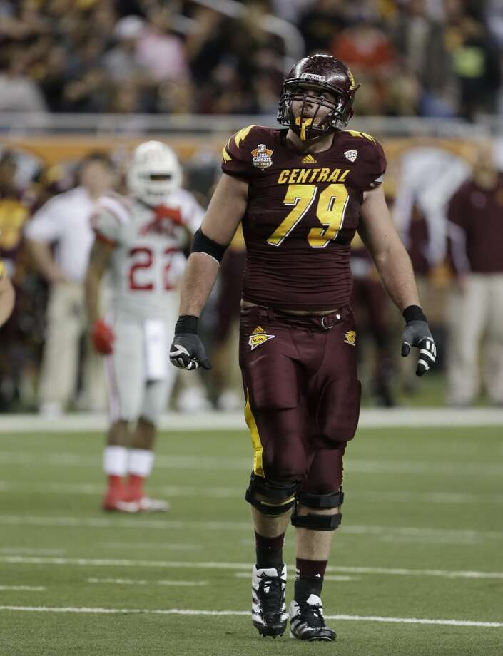 Eric FisherT, 6-6, 307, 5.03, C. Michigan  Some scouts like Fisher better than Joeckel. Like Joeckel, Fisher has everything it takes to excel for years. The only difference is the quality of competition. Fisher is a tremendous athlete who understands the position. Plays with the kind of nasty streak coaches love. Packs a punch at the line and uses long arms to extend to get the best protection. Should be a top-five pick.
