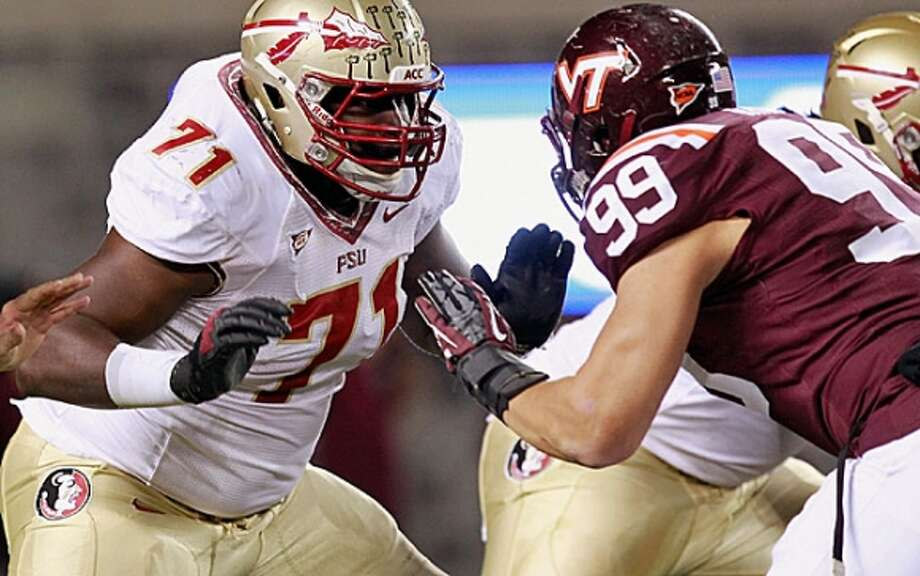 Menelik Watson  T, 6-5, 310, Florida State  Grew up in England, played basketball in Spain, earned a scholarship from Marist College, then transferred to Saddlebrook JC before transferring to Florida State and playing one season and entering the draft.