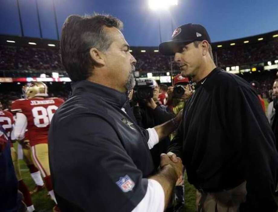 The 49ers will have short weeks to prepare for both of their games against the Rams and coach Jeff Fisher this season. (AP)