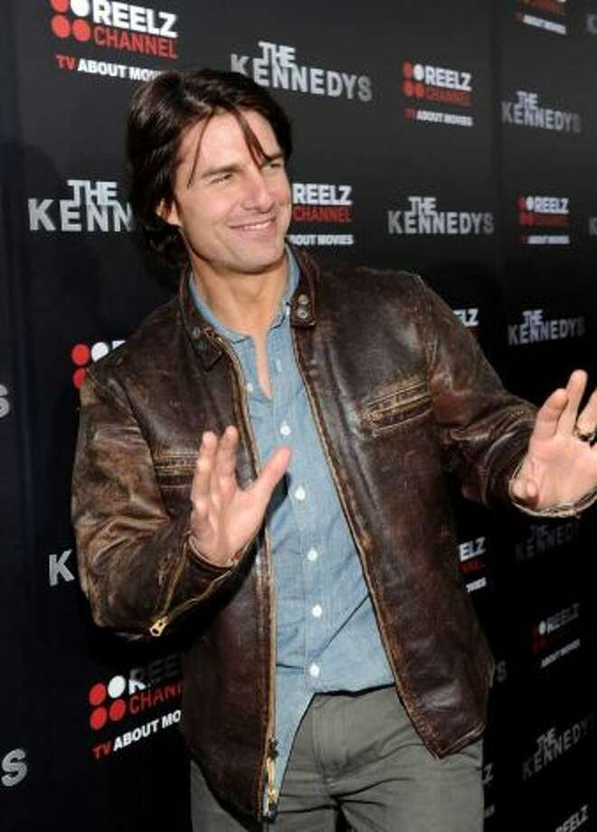 Tom Cruise, now starring in OBLIVION, which isn\'t bad, suggested by cacaorock.