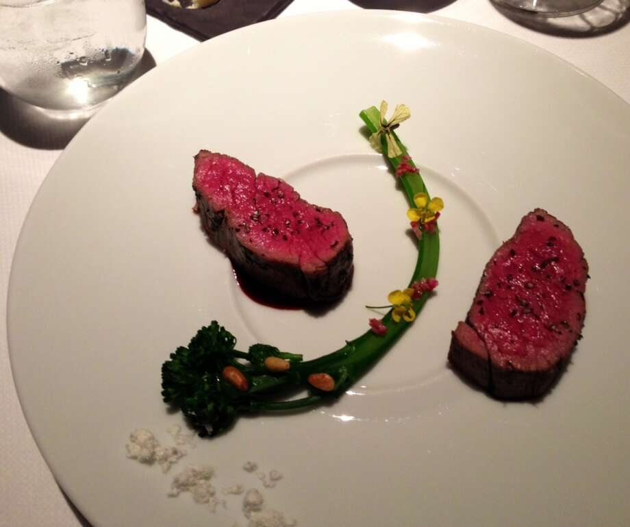 Beef presentation at Baume in Palo Alto
