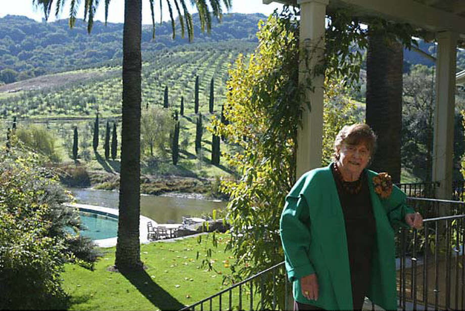 Nan McEvoy at her olive ranch, one of the largest U.S. producers of estate-grown, organic, extra-virgin olive oil.