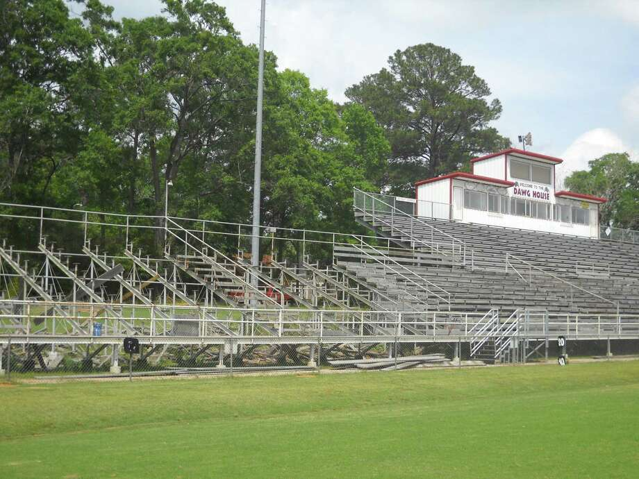 Work is progressing on the home stands in Bulldog Stadium Photo by Jeff Reedy