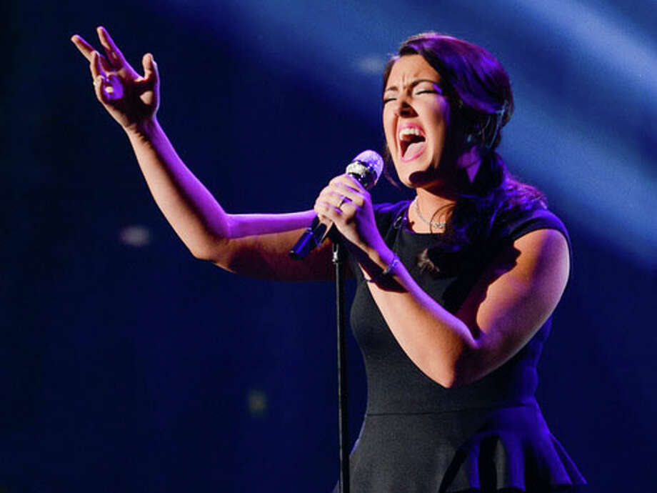 """Kree performing """"Have You Ever Been In Love"""" by Celine Dion Photo Courtesy of American Idol.com"""