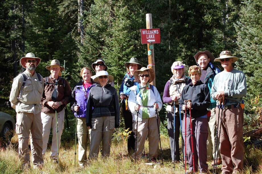 The Williams Lake Hike, near Taos Ski Valley, N.M., was made in September 2012 on the annual weeklong trip. From left to right are: Al Dykes, Chris Hooks, Diane Wilkerson, Dennis Bilyeu, Renee Bilyeu, Nancy Olson, Stephanie Brassovan, Judy Williams, Mollie Altom, Jerry Williams and Dennis Altom.