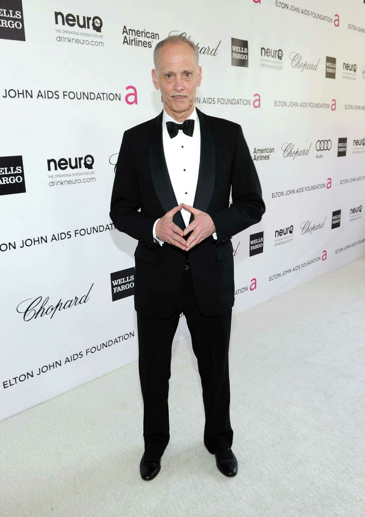 BEVERLY HILLS, CA - FEBRUARY 26: Director John Waters arrives at the 20th Annual Elton John AIDS Foundation Academy Awards Viewing Party at The City of West Hollywood Park on February 26, 2012 in Beverly Hills, California.
