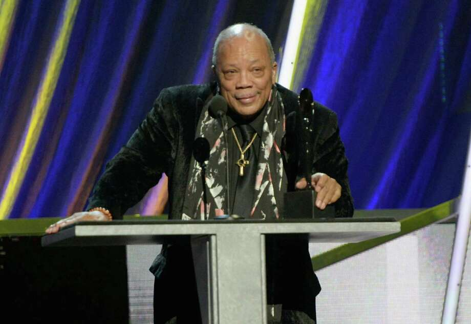 Quincy Jones speaks onstage during the 28th Annual Rock and Roll Hall of Fame Induction Ceremony at Nokia Theatre L.A. Live on April 18, 2013 in Los Angeles.  (Photo by Kevin Mazur/WireImage) Photo: Kevin Mazur, Getty Images / 2013 Kevin Mazur