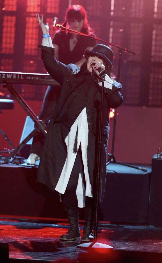 Ann Wilson of Heart performs onstage during the 28th Annual Rock and Roll Hall of Fame Induction Ceremony at Nokia Theatre L.A. Live on April 18, 2013 in Los Angeles.  (Photo by Kevin Kane/WireImage) Photo: Kevin Kane, Getty Images / 2013 Kevin Kane