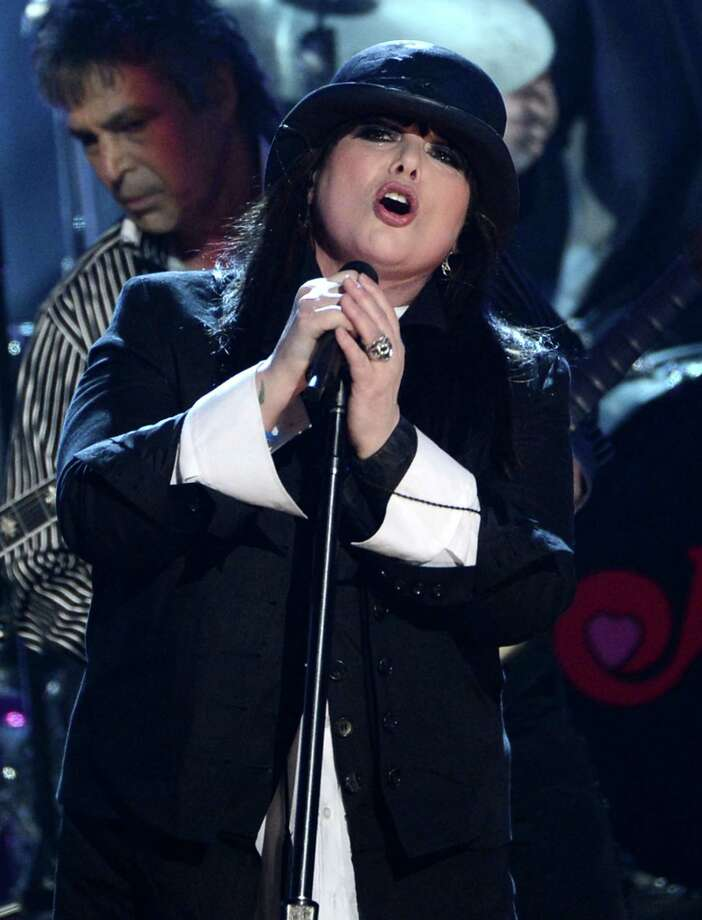 Roger Fisher and Ann Wilson of Heart perform on stage at the 28th Annual Rock and Roll Hall of Fame Induction Ceremony at Nokia Theatre L.A. Live on April 18, 2013 in Los Angeles. Photo: Kevin Winter, Getty Images / 2013 Getty Images