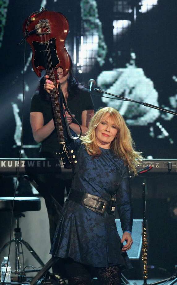 Nancy Wilson of Heart performs onstage during the 28th Annual Rock and Roll Hall of Fame Induction Ceremony at Nokia Theatre L.A. Live on April 18, 2013 in Los Angeles. (Photo by Kevin Kane/WireImage) Photo: Kevin Kane, Getty Images / 2013 Kevin Kane