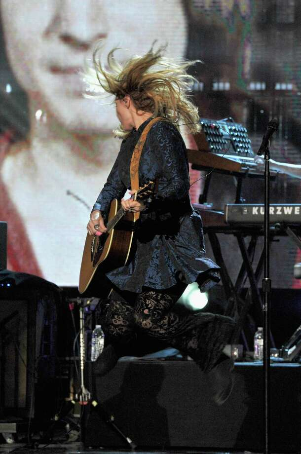 Nancy Wilson of Heart performs onstage during the 28th Annual Rock and Roll Hall of Fame Induction Ceremony at Nokia Theatre L.A. Live on April 18, 2013 in Los Angeles. (Photo by Lester Cohen/WireImage) Photo: Lester Cohen, Getty Images / 2013 Lester Cohen