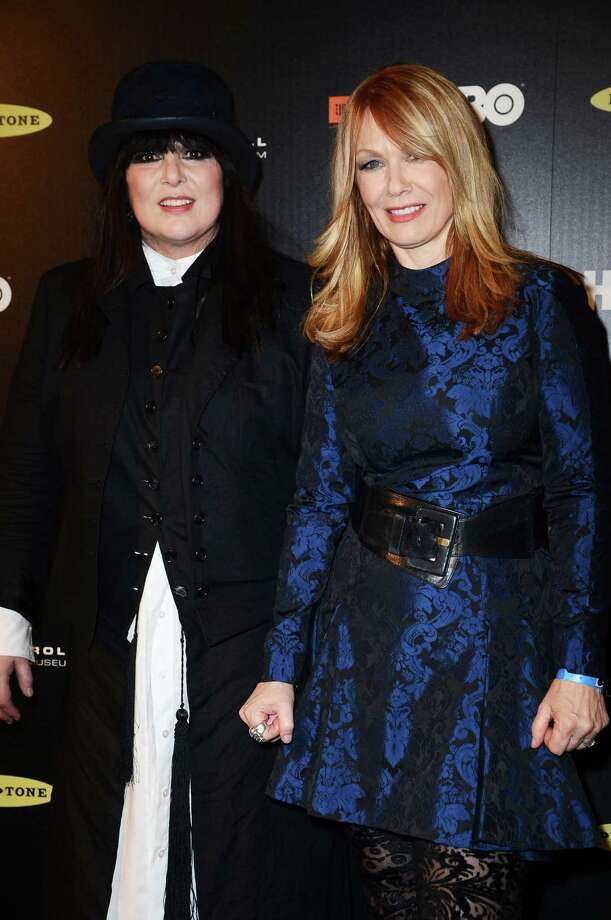 Ann Wilson and Nancy Wilson of Heart pose in the press room at the 28th Annual Rock and Roll Hall of Fame Induction Ceremony at Nokia Theatre L.A. Live on April 18, 2013 in Los Angeles. (Photo by Frazer Harrison/WireImage) Photo: Frazer Harrison, Getty Images / 2013 WireImage