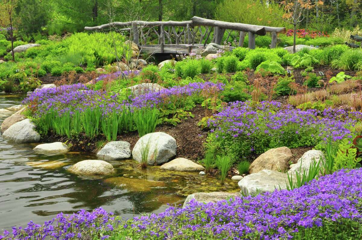 The Lerner Garden of the Five Senses in Boothbay, Maine, allows visitors to partake in a sensory outdoor experience.