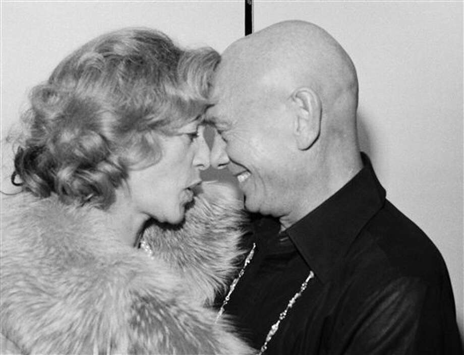 Yul Brynner Sunday, Jan. 4, 1976, backstage at New York\'s Palace Theater, with Lauren Bacall. Photo: Ray Stubblebine, AP / 1976 AP