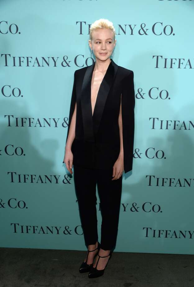 Actress Carey Mulligan is wearing Diamonds from the Tiffany & Co. 2013 Blue Book Collection as she attends the Tiffany & Co. Blue Book Ball at Rockefeller Center on April 18, 2013 in New York City.