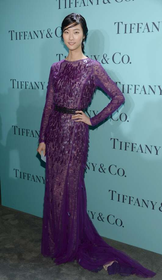 Model Ji Hye Park is wearing Diamonds from the Tiffany & Co. 2013 Blue Book Collection as she attends the Tiffany & Co. Blue Book Ball at Rockefeller Center on April 18, 2013 in New York City.