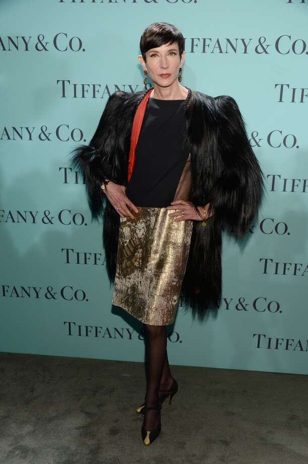 Amy Fine Collins of Vanity Fair is wearing Diamonds from the Tiffany & Co. 2013 Blue Book Collection as she attends the Tiffany & Co. Blue Book Ball at Rockefeller Center on April 18, 2013 in New York City.