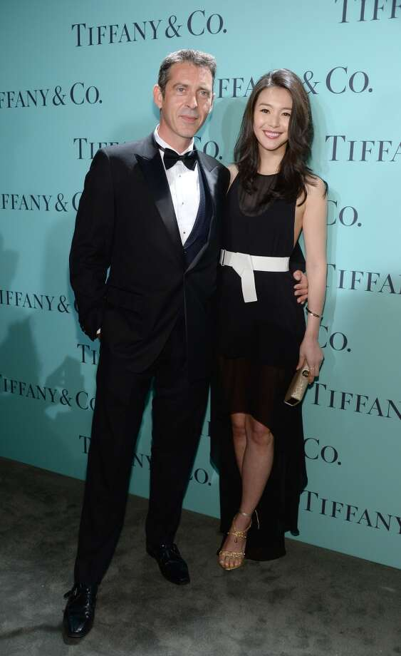 Stephane Lafay and Kurara Chibana attend the Tiffany & Co. Blue Book Ball at Rockefeller Center on April 18, 2013 in New York City.