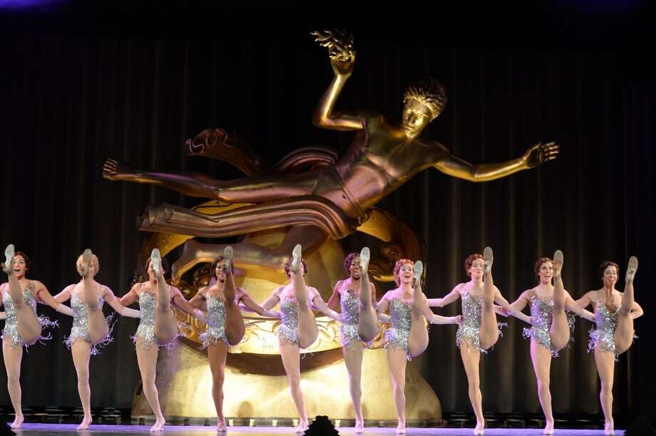 Dancers perform at the Tiffany & Co. Blue Book Ball at Rockefeller Center on April 18, 2013 in New York City.