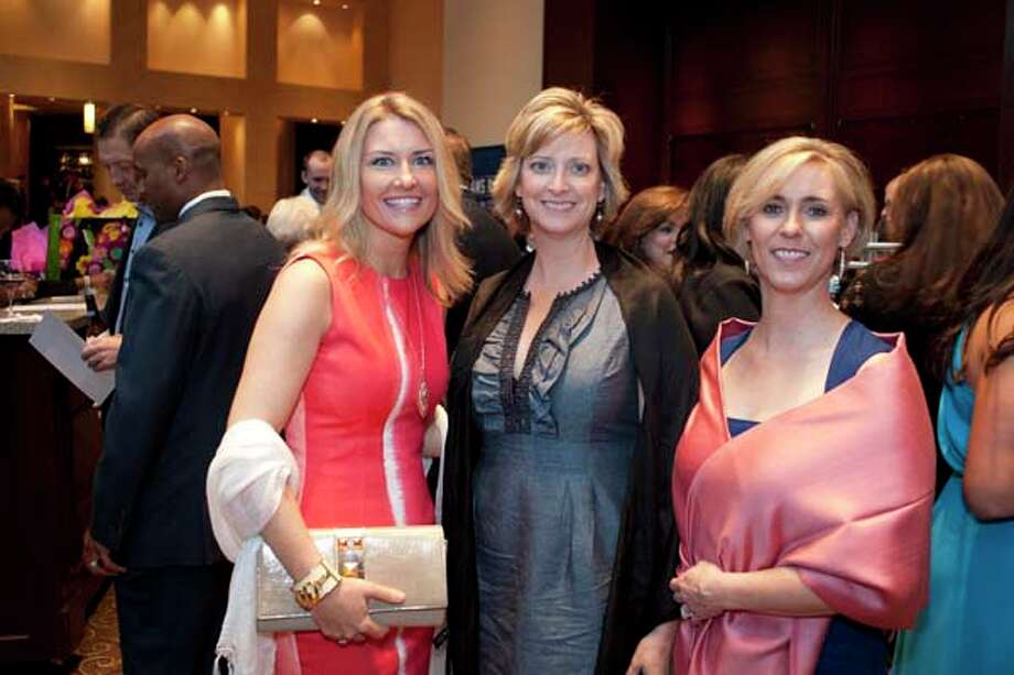 Shannon Dennison, Nicole Benton and Kim Dorrell (left to right) at the GR8 event, at the Royal Sonesta Hotel, Houston, Texas on the 18th April 2013. Photo: Spike Johnson, For The Chronicle / Houston Chronicle