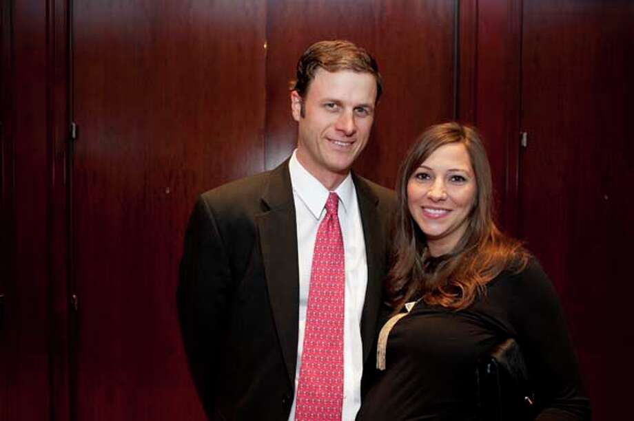 Chase and Stefanie Cribbs at the GR8 event, at the Royal Sonesta Hotel, Houston, Texas on the 18th April 2013. Photo: Spike Johnson, For The Chronicle / Houston Chronicle