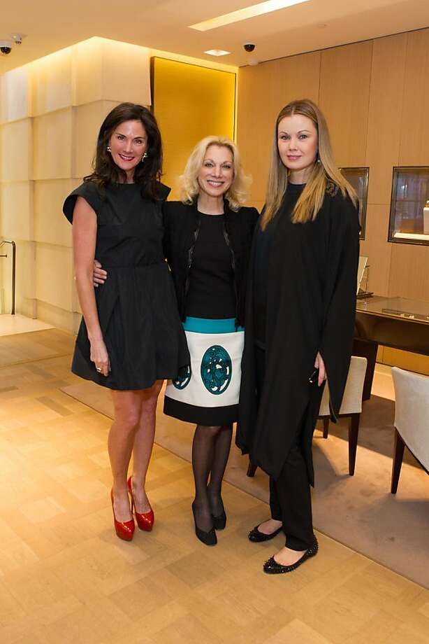 Lisa Alexander, Cynthia Schreuder and Tatiana Sorokko at Elizabeth Thieriot's birthday celebration, which took place on April 18, 2013 at Bulgari in San Francisco. Photo: Drew Altizer Photography