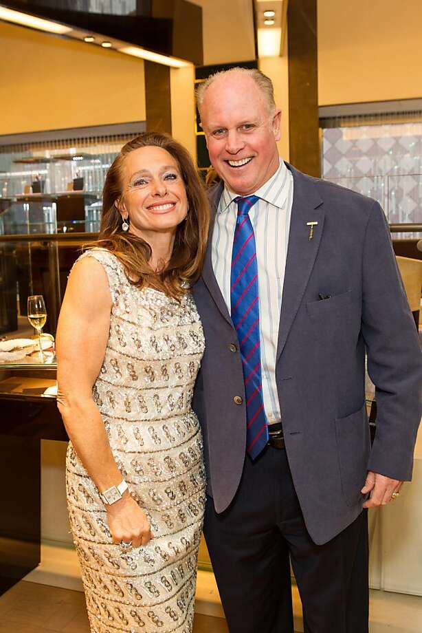 Elisabeth Thieriot and Bruce Woodward at Thieriot's birthday celebration, which took place on April 18, 2013 at Bulgari in San Francisco. Photo: Drew Altizer Photography