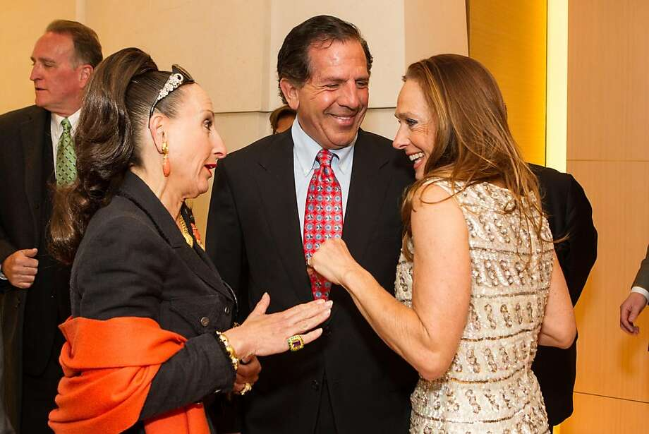 Toni Wolfson, Bob Federicghi and Elisabeth Thieriot at Thieriot's birthday celebration, which took place on April 18, 2013 at Bulgari in San Francisco. Photo: Drew Altizer Photography