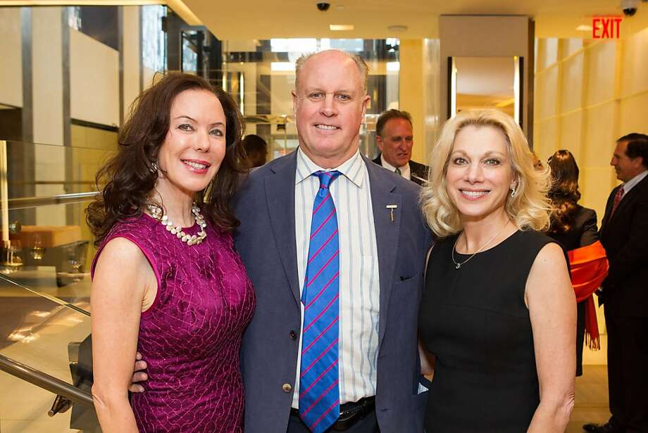 Margaret Mitchel, Bruce Woodward and Cynthia Schroeder at Elizabeth Thieriot's birthday celebration, which took place on April 18, 2013 at Bulgari in San Francisco. Photo: Drew Altizer Photography