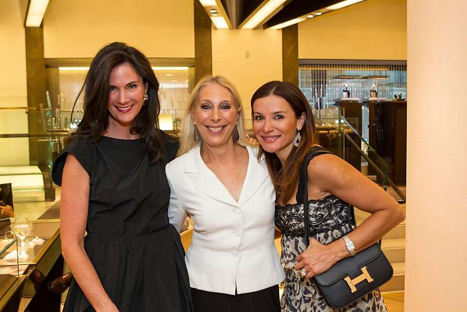 Lisa Alexander, Betsy Linder and Claudia Ross at Elizabeth Thieriot's birthday celebration, which took place on April 18, 2013 at Bulgari in San Francisco. Photo: Drew Altizer Photography