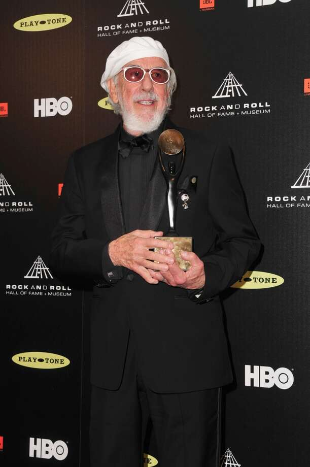 Inductee Lou Adler poses in the press room at the 28th Annual Rock and Roll Hall of Fame Induction Ceremony at Nokia Theatre L.A. Live at Nokia Theatre L.A. Live on April 18, 2013 in Los Angeles, California.