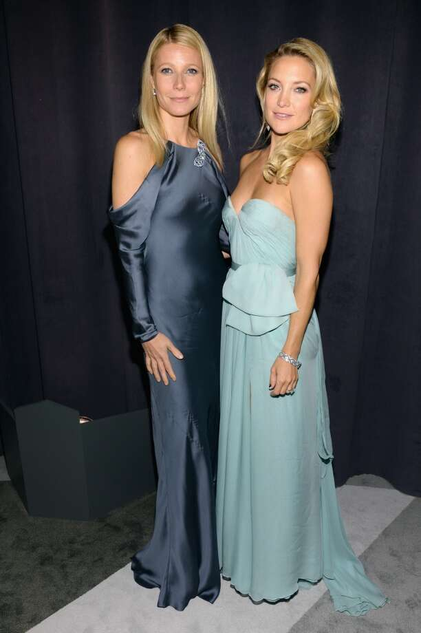Actresses (L-R) Gwyneth Paltrow and Kate Hudson attend the Tiffany & Co. Blue Book Ball at Rockefeller Center on April 18, 2013 in New York City.