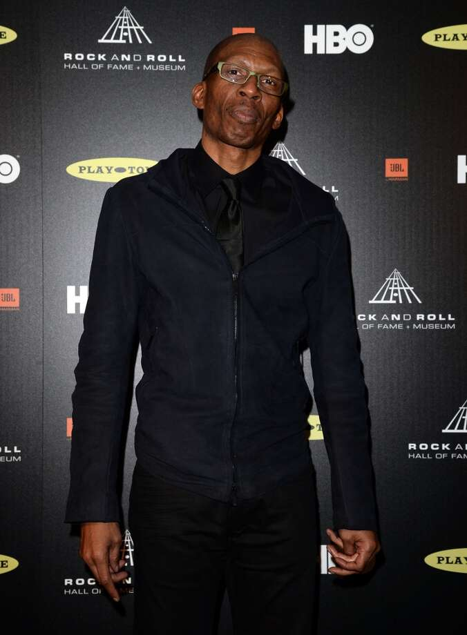 Inductee Hank Shocklee of Public Enemy poses in the press room at the 28th Annual Rock and Roll Hall of Fame Induction Ceremony at Nokia Theatre L.A. Live on April 18, 2013 in Los Angeles, California.  (Photo by Jason Merritt/Getty Images)