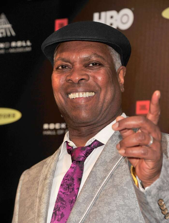 Musician Booker T. Jones poses in the press room at the 28th Annual Rock and Roll Hall of Fame Induction Ceremony at Nokia Theatre L.A. Live at Nokia Theatre L.A. Live on April 18, 2013 in Los Angeles, California.